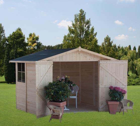 Pareti Esterne In Vetro E Legno : Casetta da giardino cm om legno