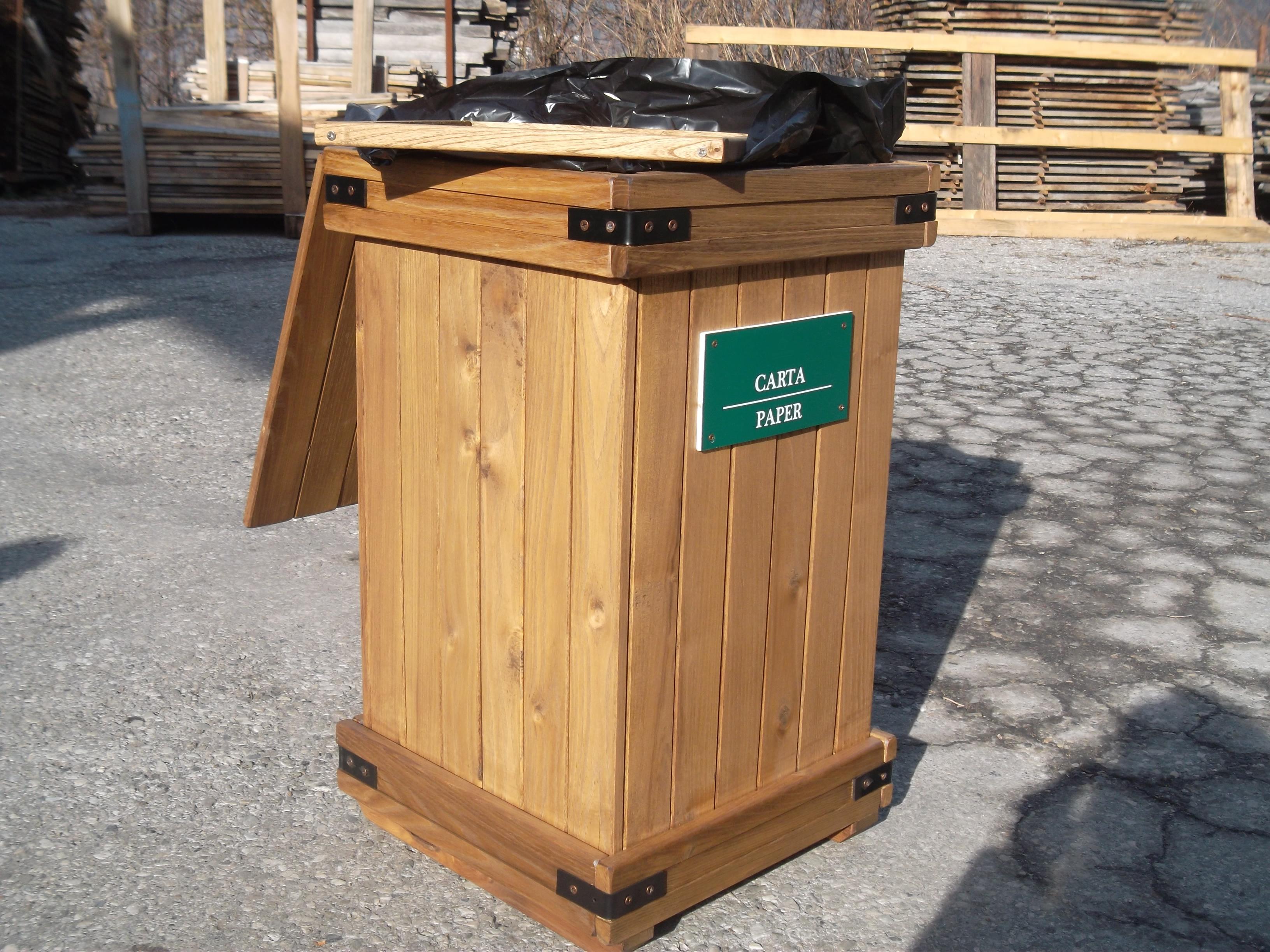 Contenitore in legno per raccolta differenziata vetro - Mobile sottolavabo bagno lidl ...