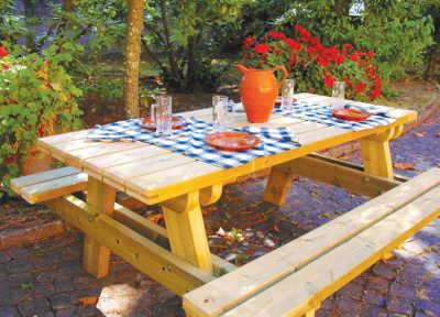 Fioriere in legno arredo giardino tavolo panca om legno - Tavolo pic nic decathlon ...